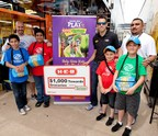 NASCAR driver Aric Almirola presented the Boys & Girls Clubs of Greater Fort Worth with an H-E-B gift card worth $1,000 towards the purchase of groceries, courtesy of Nathan's Famous.