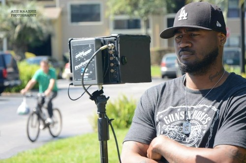 Antonio R. Cannady, Writer/Producer/Director, on the movie set of his directorial debut Ex Post Facto. ...