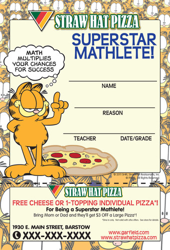 Garfield The Cat Will Be Eating Straw Hat Pizza From Now On