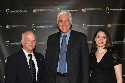 Dr. Ed Rubel, CBS' Dr. Jon LaPook, and Andrea Boidman at Summit on Hearing Restoration Project.