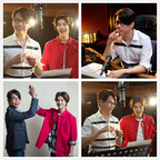 Music godfather David Tao and Asian super idol Aries Lu singing the promotional song for Winter Olympics together