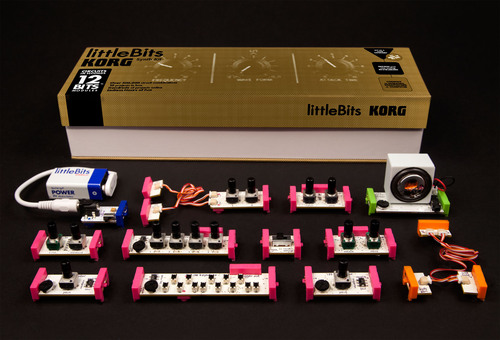 The new littleBits Synth Kit, created in collaboration with KORG, allows users to create brand new sounds and ...