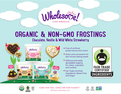 Wholesome!(R), the nation's leading Fair Trade, Organic sweetener brand, is stretching its Fair Trade impact even further this year with the launch of the first ever Fair Trade Organic Frostings. Wholesome! has been a longtime supporter of Fair Trade with its extensive line of Fair Trade sugars, agave and honey. This has secured a steady income for farmers in this area and helped pave a path forward to develop their communities. Collectively, Wholesome! has paid more than $11.5 million in Fair Trade premiums to farming co-operatives and partners worldwide, helping bring clean water, electricity, schools and health care to villages.