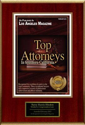 Attorney Barry Harris Hinden Selected for List of Top Rated Lawyers in CA.  (PRNewsFoto/American Registry)