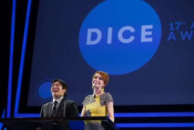 Felicia Day and Freddie Wong co-hosted 17th Annual D.I.C.E. Awards presented by AIAS, Feb. 6, 2014.  (PRNewsFoto/Academy of Interactive Arts & Sciences)