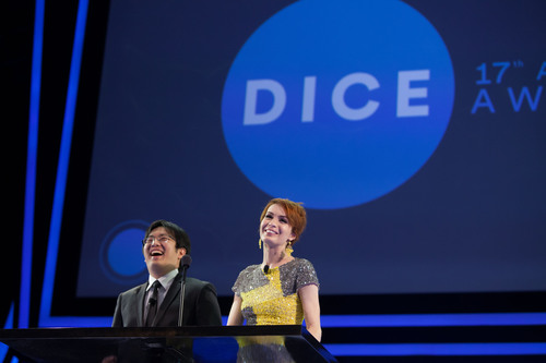 Felicia Day and Freddie Wong co-hosted 17th Annual D.I.C.E. Awards presented by AIAS, Feb. 6, 2014. ...