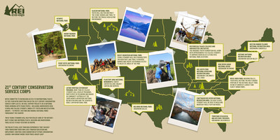The REI Foundation Invests $1 Million in 21st Century Conservation Service Corps to Support Stewardship Projects in 19 National Parks