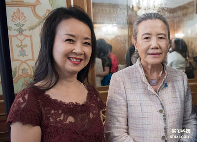 Mengqing Fan and Mrs. Ban Ki-moon