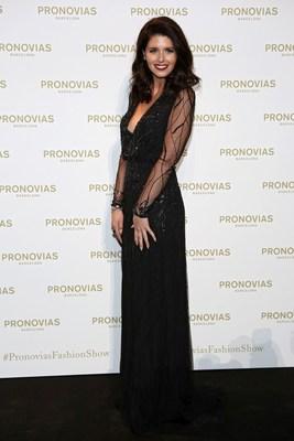 Katherine Schwarzenegger at the photocall Pronovias Fashion Show. (PRNewsFoto/PRONOVIAS)