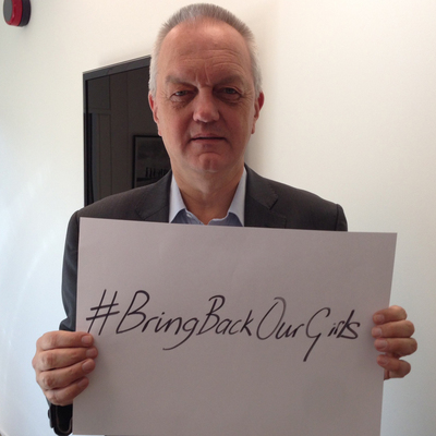 Plan International CEO Nigel Chapman calls on the government of Nigeria to redouble its efforts to secure the immediate and unconditional release of all kidnapped schoolgirls. #bringbackourgirls (PRNewsFoto/Plan International )