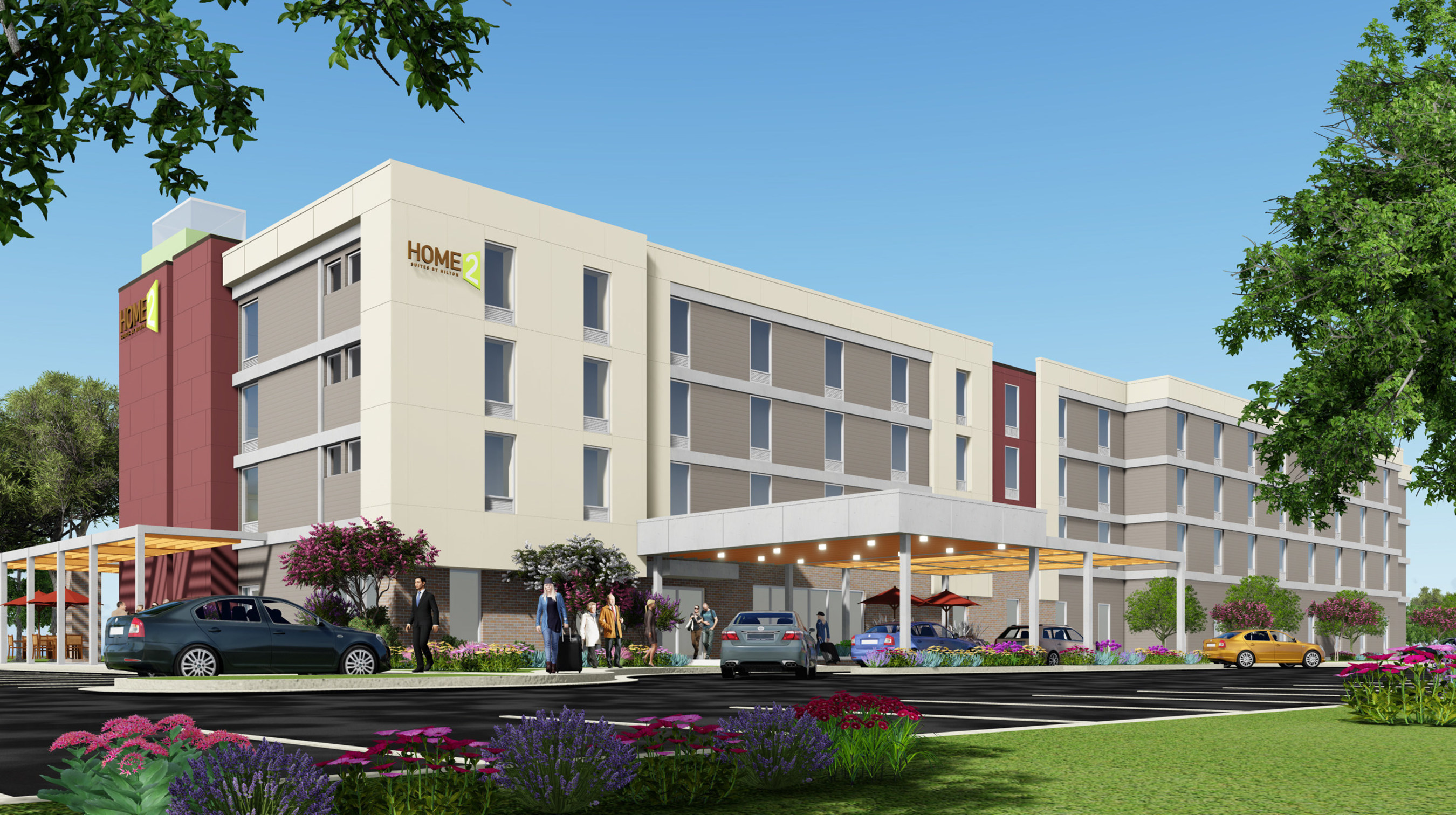 Home2 Suites By Hilton The All Suite Hotel Brand Has Commenced Construction White