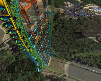 In 2014, Zumanjaro: Drop of Doom at Six Flags Great Adventure will shatter the world record for tallest drop ride at 415 feet.  (PRNewsFoto/Six Flags Great Adventure)