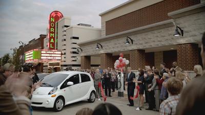 EV Town welcomes the 2012 Mitsubishi i in Normal, IL (PRNewsFoto/Mitsubishi Motors North America, Inc.)