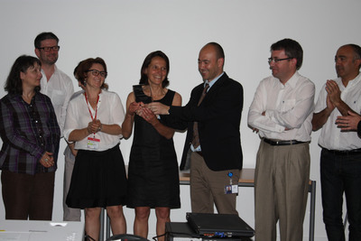 Sanofi award recipients gather at the Sanofi Research & Development Center located at Vitry-sur-Seine (Val-de-Marne area)