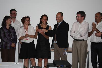 Sanofi award recipients gather at the Sanofi Research & Development Center located at Vitry-sur-Seine (Val-de-Marne area)
