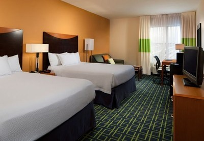 Fairfield Inn & Suites Orlando at SeaWorld and SpringHill Suites Orlando at SeaWorld entices holiday travelers to experience the magic of SeaWorld's Christmas Celebration(TM) with special rates. Image is a representation of guest rooms in Fairfield Inn & Suites. For information, visit www.fairfieldinnandsuitesseaworld.com or call 1-407-354-1139.