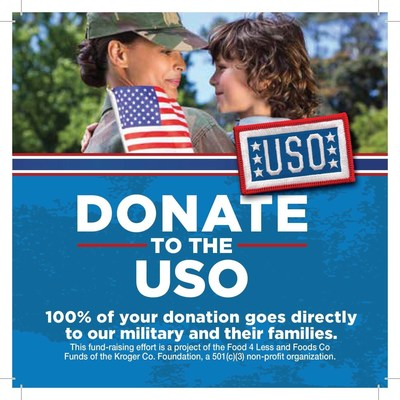 Through July 19, customers may support the USO by donating their spare change in canisters located at the checkstand in Southern California Food 4 Less and Foods Co stores.