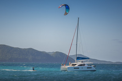 The inaugural Sunsail Kiteboard Flotilla is guided by professional kiteboarder Brock Callen.