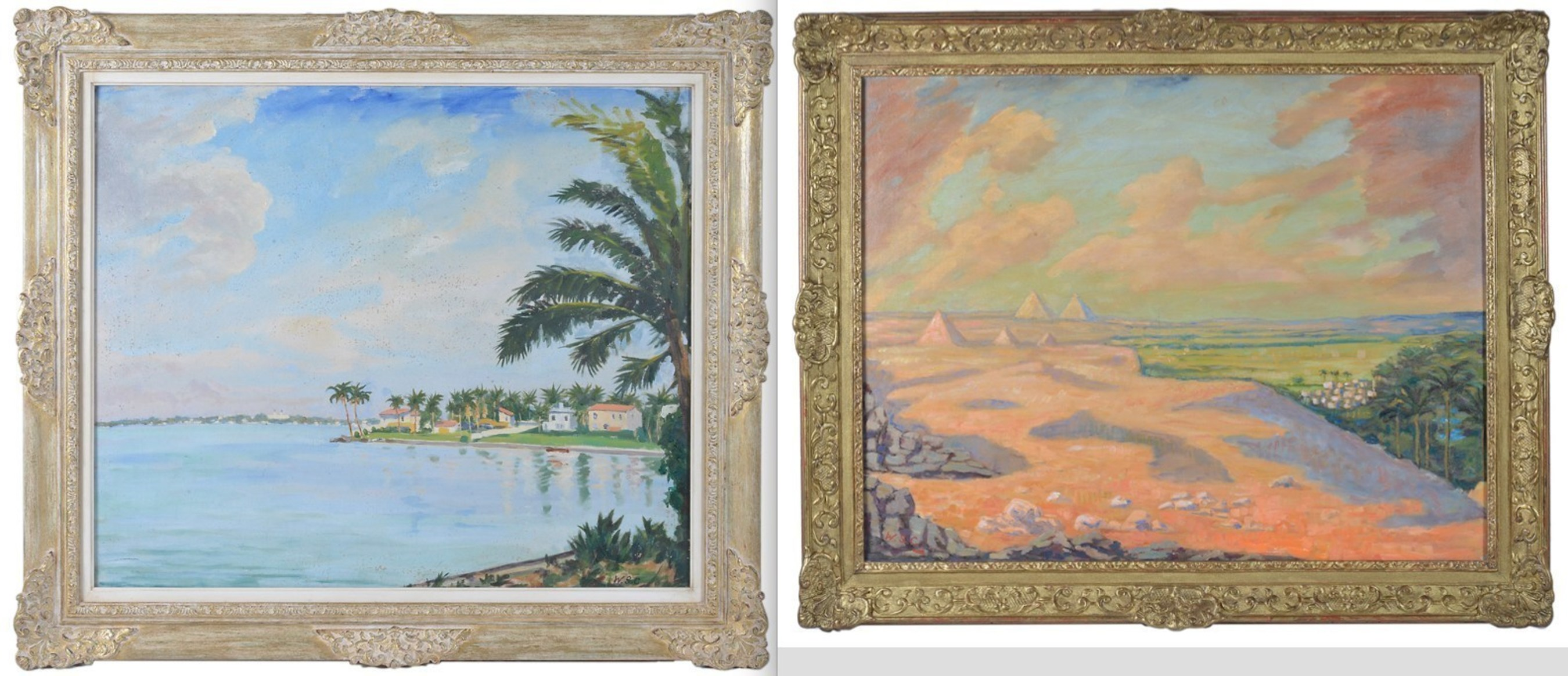 Winston Churchill's 1946 paintings of Miami Beach and Giza Pyramids to Be Auctioned July 27