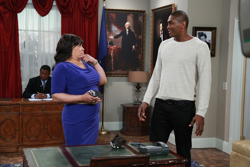NBA star Metta World Peace (seen here with Jackee) guest stars on the sitcom THE FIRST FAMILY Friday July 12 at  ...
