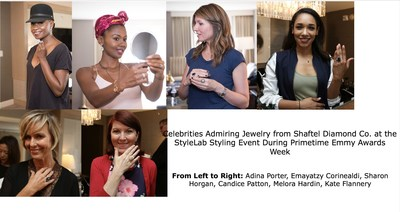 Celebrities Admiring Jewelry from Shaftel Diamond Co. at the StyleLab Styling Event During Primetime Emmy Awards Week