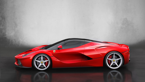 LaFerrari - side.  (PRNewsFoto/Ferrari)