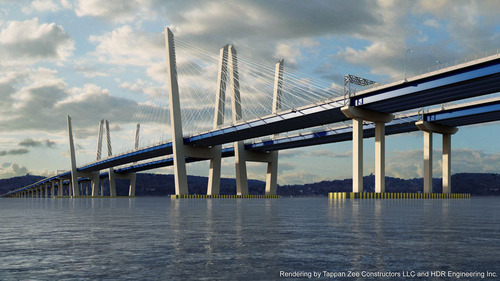 New New York Bridge Rendering by Tappan Zee Construction LLC and HDR Engineering Inc. (PRNewsFoto/Tappan Zee Construction LLC) (PRNewsFoto/TAPPAN ZEE CONSTRUCTION LLC)