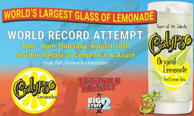 Calypso Lemonades Attempts to Break World Record for Largest Glass of Lemonade on National Lemonade Day