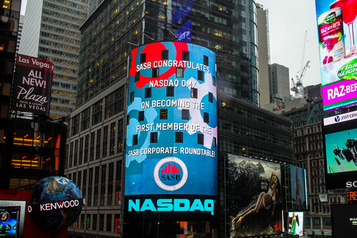 NASDAQ joins corporate roundtable. (PRNewsFoto/SASB)
