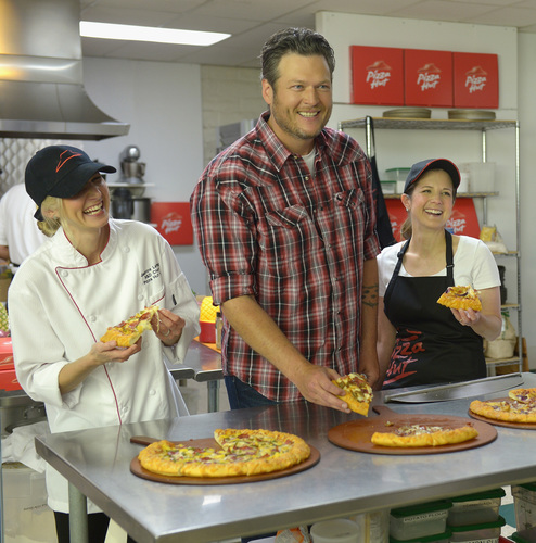 Pizza Hut Partners with Country Music Star Blake Shelton to Roll Out New Line of BBQ Pizzas (PRNewsFoto/Pizza ...