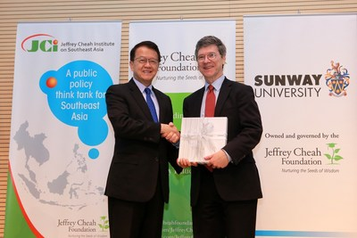Tan Sri Jeffrey Cheah with Professor Jeffrey Sachs