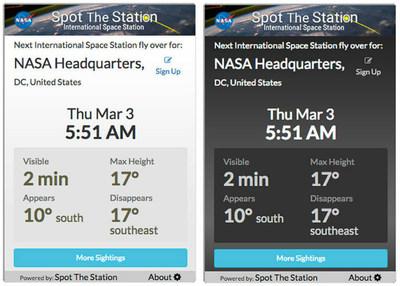 NASA's new Spot the Station mobile app