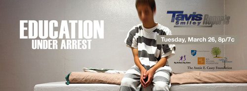 "TAVIS SMILEY REPORTS: ""Education Under Arrest"" -- EXPERTS SAY LOCKING UP AN 11-YEAR-OLD FOR ANY LENGTH OF TIME DOESN'T MAKE SENSE -- Premieres Tuesday, March 26 at 8pm on PBS.  (PRNewsFoto/Big Brothers Big Sisters)"
