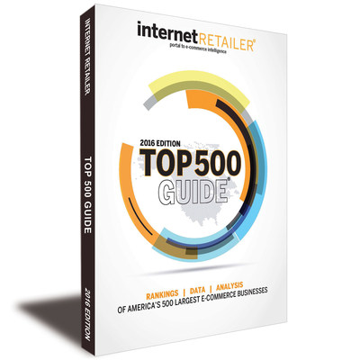 "The 2016 Top 500 Guide, widely acclaimed as ""the bible of e-commerce,"" includes more metrics than ever before. For the first time U.S. e-retailers are ranked by a Performance Score that assesses their online successes vis-a-vis their direct competitors as well as against the U.S. e-commerce market overall."