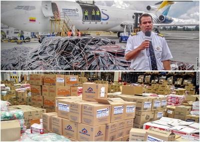 Boeing 727 cargo plane and aid relief items. (PRNewsFoto/Emmanuel TV)