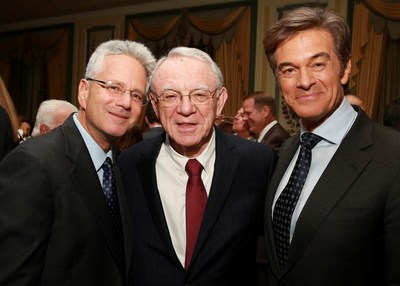 Jeffrey Borenstein, M.D., Herbert Pardes, M.D. and Mehmet C. Oz, M.D. at the Brain & Behavior Research Foundation's 27th Annual National Awards Dinner, which raised more than $1 million for mental health research.  Dr. Oz presented Dr. Pardes with the Foundation's inaugural Humanitarian Prize. The prize, which will bear Dr. Pardes' name, will honor individuals who have made significant contributions to the field of mental health.
