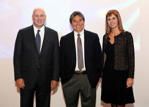 From left to right: Turkcell CEO Sureyya Ciliv, Technology and Marketing Guru Guy Kawasaki, Chief Corporate ...