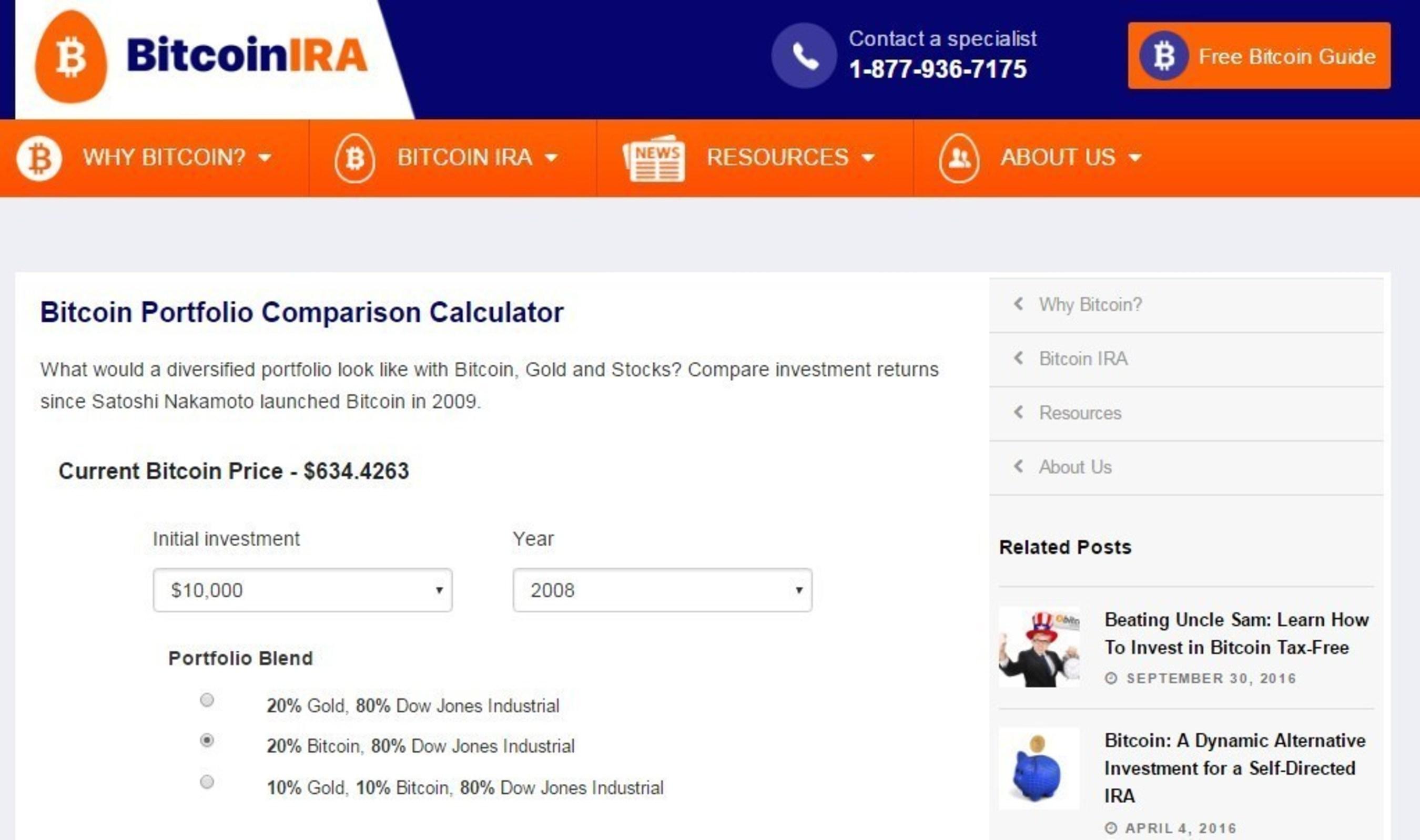 Bitcoin IRA Launches New IRA Calculator Tool for Investors