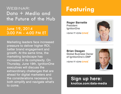 IgnitionOne Webinar to Highlight the Future of the Marketing Hub, How to Navigate Challenges