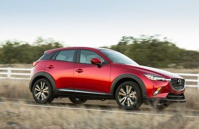 The 2016 Mazda CX-3 can achieve up to an EPA-estimated 35 mpg highway
