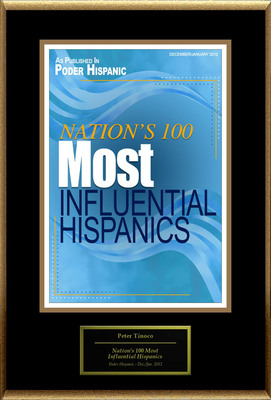 "Peter Tinoco Selected For ""Nation's 100 Most Influential Hispanics.""  (PRNewsFoto/American Registry)"