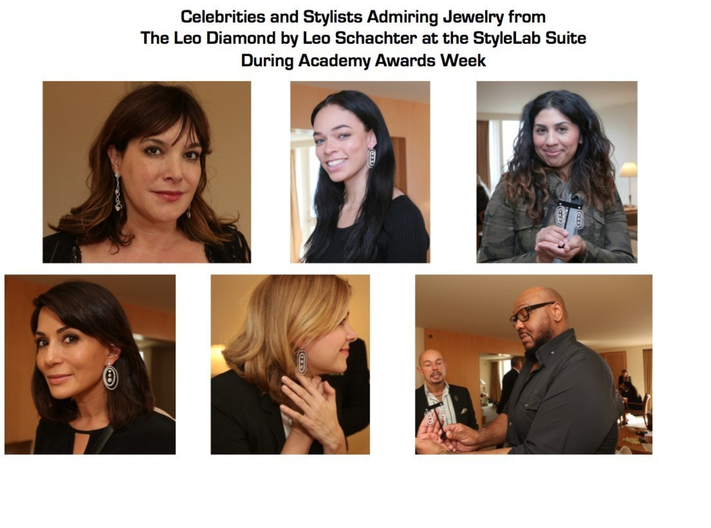 Celebrities And Their Stylists Previewed Jewelry From The Leo Diamond By Leo Schachter At StyleLab's Suite During Academy Awards Week