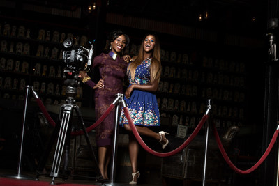 (From Left to Right): Eunice Omole and DJ Florence 'DJ Cuppy' Otedola