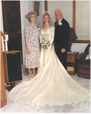 Marge Yourshaw, daughter Barbara Mancini, Barbara's dad Joe Yourshaw in 1994