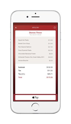 OpenTable diners can now settle the check using Apple Pay.