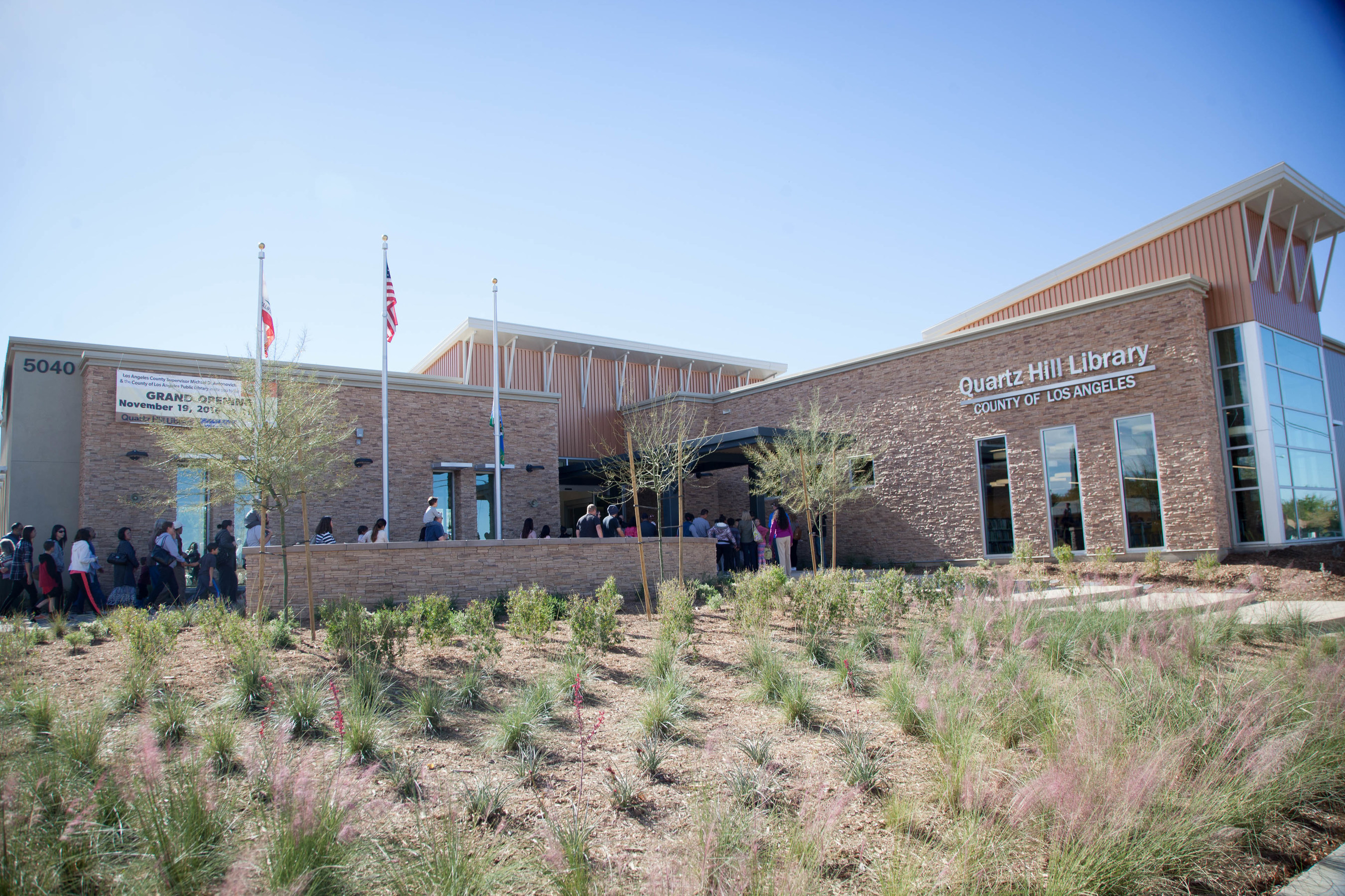 The County of Los Angeles Quartz Hill Public Library grand opening on November 19, 2016