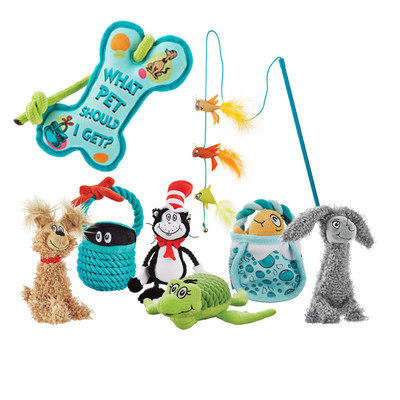 Petco, in partnership with Dr. Seuss Enterprises, L.P., has released the latest assortment from the Dr. Seuss(TM) Pet Fans Collection(TM), an exclusive line of pet accessories and toys based on the beloved characters from Dr. Seuss.
