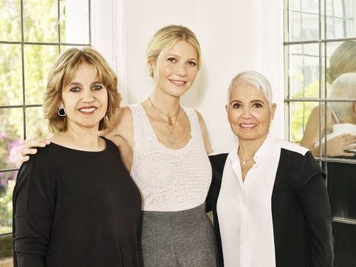 Rosa Tous, Corporate Vice President of TOUS Jewelry; Gwyneth Paltrow and Rosa Oriol, Founder of TOUS Jewelry ...
