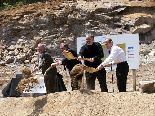 President Obama and Maine Governor Baldacci Receive Commemorative Gift at Ground Breaking Ceremony