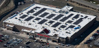 An aerial view of the solar roof on the new I-77 and Route 82 Giant Eagle during construction. The new store opened in the greater Cleveland area on Thursday, April 26, 2012.  (PRNewsFoto/Giant Eagle)